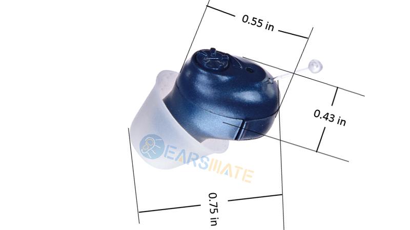 Prothèses auditives numériques Blue Cic in Ear pour adultes et personnes âgées